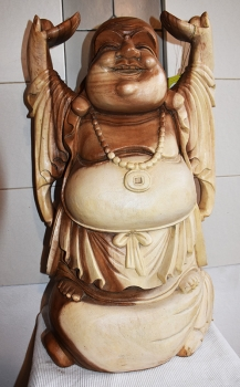 Budhha stehend, hands up, Holz geschnitzt,  60 cm